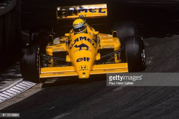 Ayrton Senna LotusHonda 99T Grand Prix of Monaco Monaco 31 May 1987