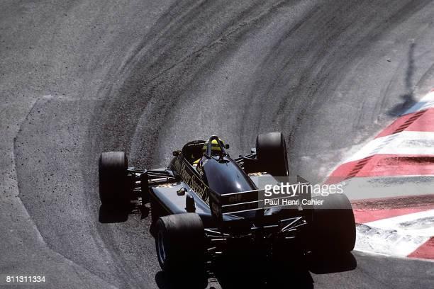 Ayrton Senna LotusRenault 98T Grand Prix of Monaco Monaco 11 May 1986
