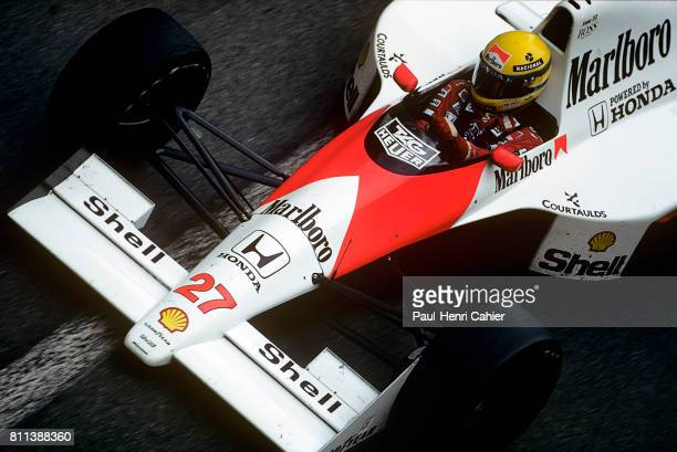 Ayrton Senna McLarenHonda MP4/5B Grand Prix of Monaco Monaco 27 May 1990