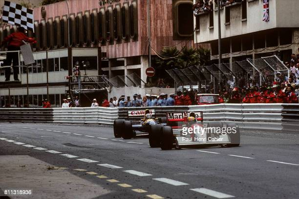 Ayrton Senna Nigel Mansell McLarenHonda MP4/7A WilliamsRenault FW14B Grand Prix of Monaco Monaco 31 May 1992