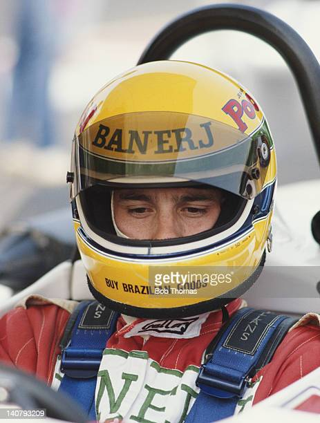Ayrton Senna of Brazil driver of the West Surrey Racing Ralt RT3/83 Toyota during the Marlboro British Formula 3 Championship Race on 12th July 1983...