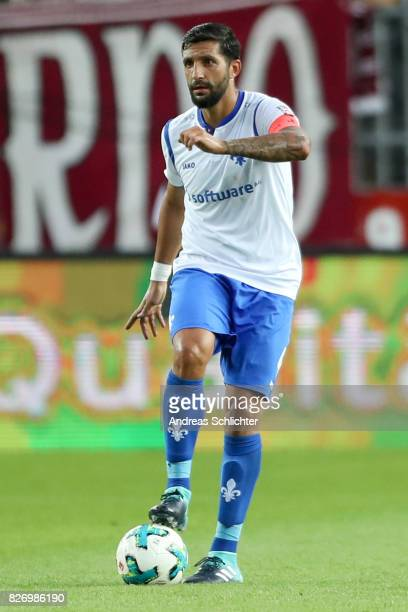 Aytac Sulu of Darmstadt during the Second Bundesliga match between 1 FC Kaiserslautern and SV Darmstadt 98 at FritzWalterStadion on August 4 2017 in...