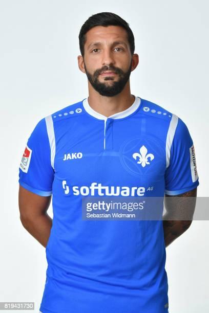 Aytac Sulu of SV Darmstadt 98 poses during the team presentation at MerckStadion am Boellenfalltor on July 20 2017 in Darmstadt Germany