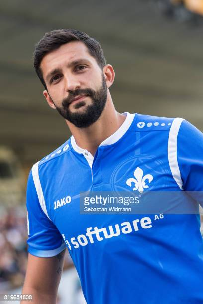 Aytac Sulu of SV Darmstadt 98 walks on the pitch during the team presentation at MerckStadion am Boellenfalltor on July 20 2017 in Darmstadt Germany