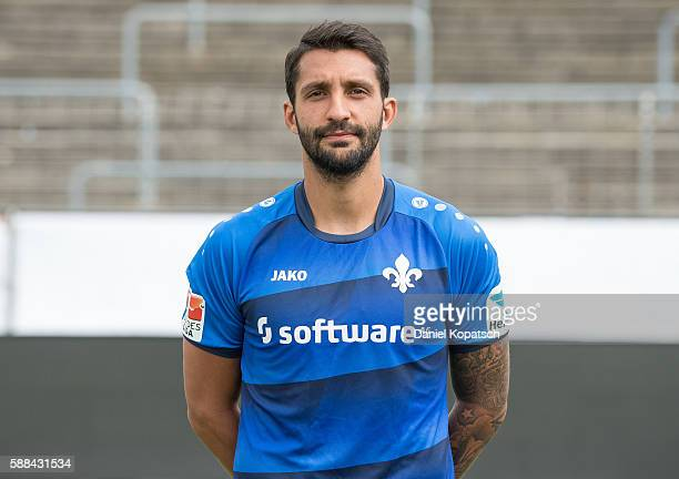 Aytac Sulu poses during the Darmstadt 98 Team Presentation on August 11 2016 in Darmstadt Germany