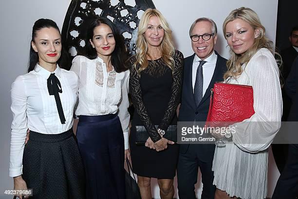 Aytan Eldarova Yasmin Mills Melissa Odabash Tommy Hilfiger and Fru Tholstrup attend a Contemporary Art party hosted by Tommy Hilfiger Dylan Jones and...