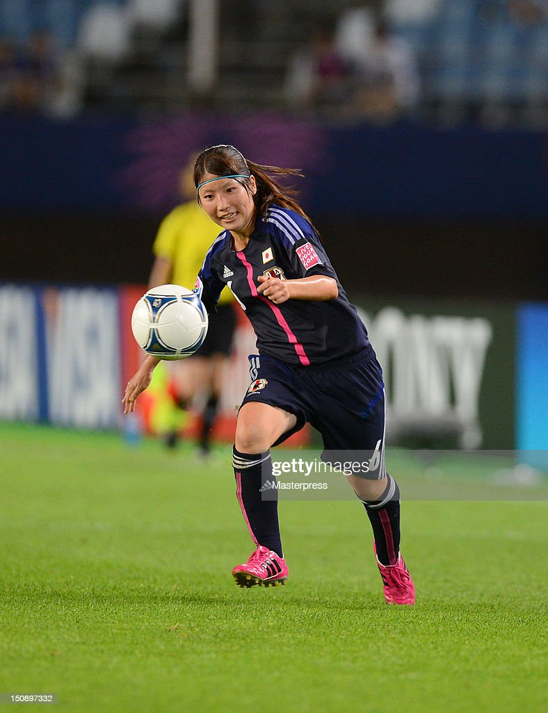 Ayu Nakada of Japan in action during the FIFA U-20 Women's World Cup Group A match between Japan and Mexico at Miyagi Stadium on August 19, 2012 in Rifu, Miyagi, Japan.