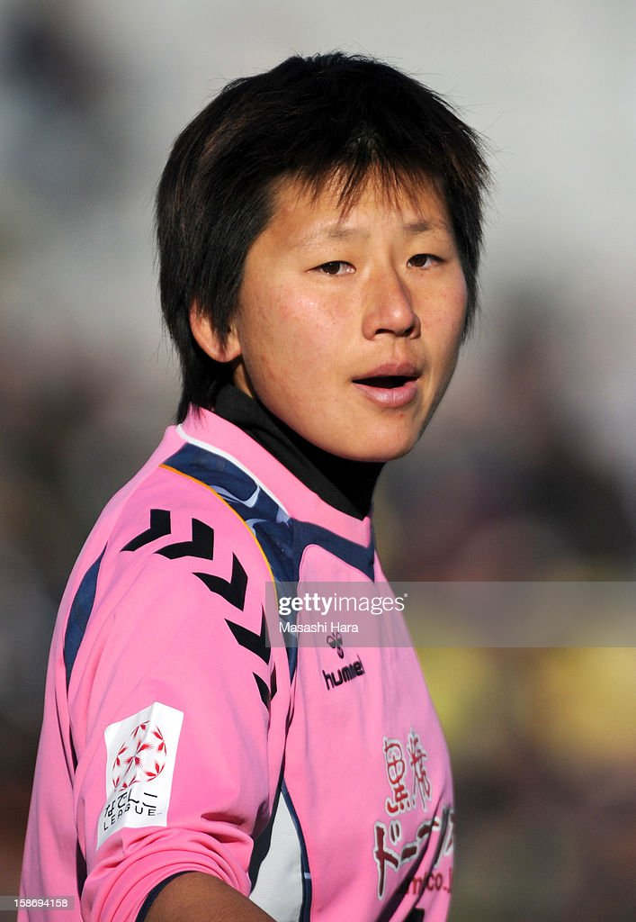 Ayumi Kaihori #1 of INAC Kobe Leonessa looks on during the 34th Empress's Cup All Japan Women's Football Tournament final match between INAC Kobe Leonessa and JEF United Chiba Ladies at Nack 5 Stadium Omiya on December 24, 2012 in Saitama, Japan.