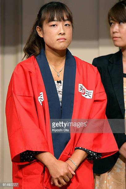 Ayumi Morita of Japan attends a welcome reception on day two of the Rakuten Open Tennis tournament at Hotel Grand Pacific Le Daiba on October 6 2009...