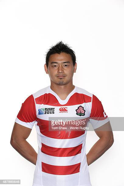 Ayumu Goromaru of Japan poses for a portrait during the Japan Rugby World Cup 2015 squad photo call in Brighton on September 12 2015 in Brighton...