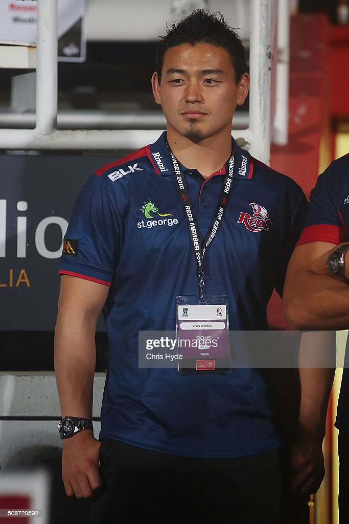 <a gi-track='captionPersonalityLinkClicked' href=/galleries/search?phrase=Ayumu+Goromaru&family=editorial&specificpeople=7301515 ng-click='$event.stopPropagation()'>Ayumu Goromaru</a> of the Reds looks on after the Super Rugby pre-season match between the Reds and the Crusaders at Ballymore Stadium on February 6, 2016 in Brisbane, Australia.