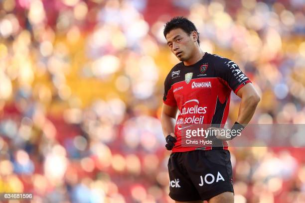 Ayumu Goromaru of Toulon looks on during the Rugby Global Tens match Toulon and Brumbies at Suncorp Stadium on February 11 2017 in Brisbane Australia