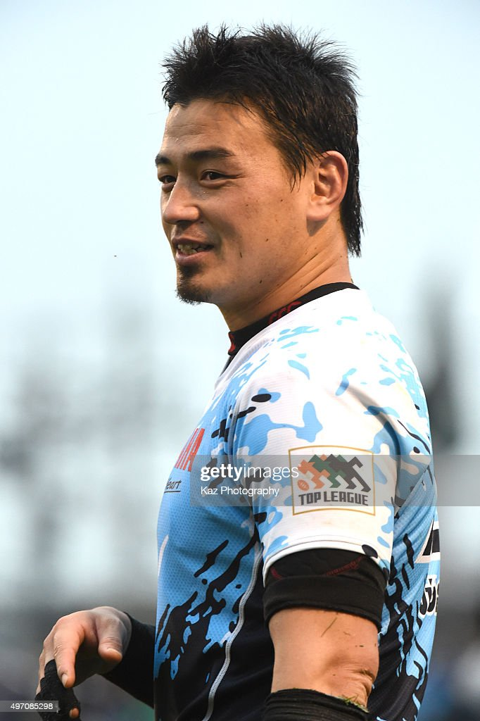 <a gi-track='captionPersonalityLinkClicked' href=/galleries/search?phrase=Ayumu+Goromaru&family=editorial&specificpeople=7301515 ng-click='$event.stopPropagation()'>Ayumu Goromaru</a> of Yamaha Motor Jubilo is happy after the win during the Japan Rugby Top League match between Toyota Motor Verblitz v Yamaha Motor Jubilo at the Paloma Miziho Rugby Stadium on November 14, 2015 in Tokyo, Japan.