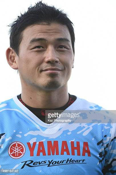 Ayumu Goromaru of Yamaha Motors smiles infront of supporters after the match during the rugby match between Yamaha Motors and Toyota Industries...