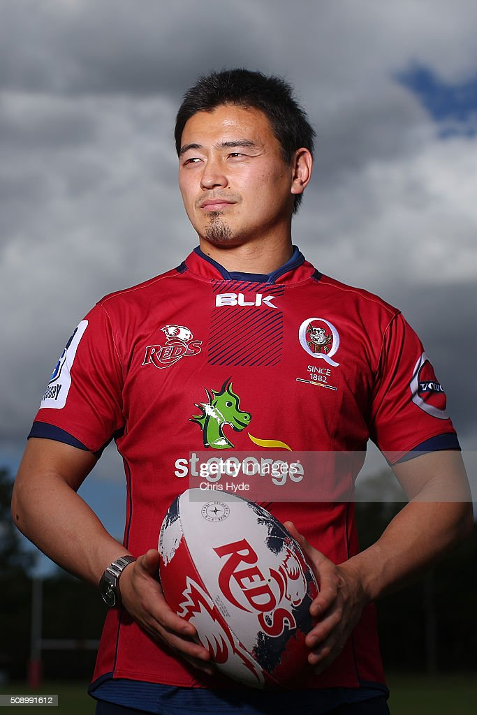 <a gi-track='captionPersonalityLinkClicked' href=/galleries/search?phrase=Ayumu+Goromaru&family=editorial&specificpeople=7301515 ng-click='$event.stopPropagation()'>Ayumu Goromaru</a> poses during a Reds Super Rugby media opportunity at Ballymore Stadium on February 8, 2016 in Brisbane, Australia.