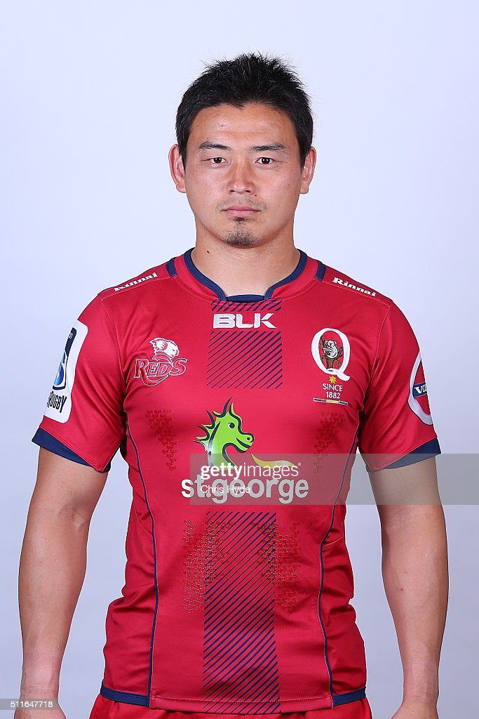 <a gi-track='captionPersonalityLinkClicked' href=/galleries/search?phrase=Ayumu+Goromaru&family=editorial&specificpeople=7301515 ng-click='$event.stopPropagation()'>Ayumu Goromaru</a> poses during the 2016 Queensland Reds headshots session on February 22, 2016 in Brisbane, Australia.