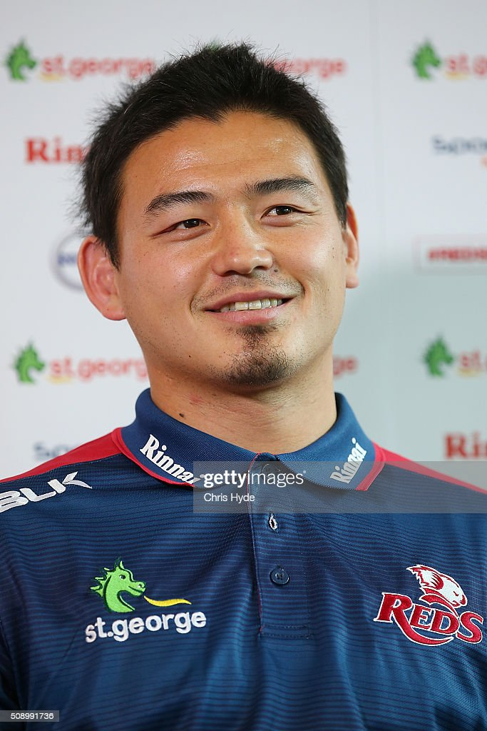 Ayumu Goromaru smiles while speaking to media during a Reds Super Rugby media opportunity at Ballymore Stadium on February 8, 2016 in Brisbane, Australia.