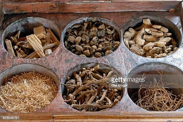 Ayurvedic herbs and woods, Kollengode, Vengunad, Kerala, India, Asia