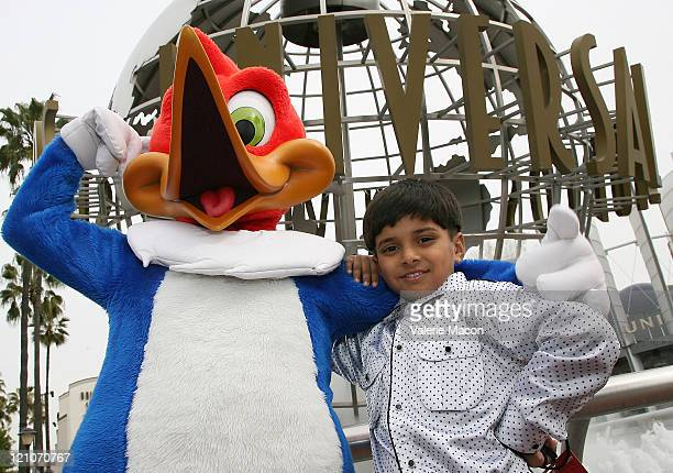 Ayush Mahesh Khedekar of 'Slumdog Millionaire' visits Universal Studios on February 21 2009 in Universal City California