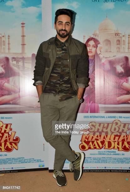 Ayushmann Khurrana during the promotion of Shubh Mangal Savdhan in Mumbai