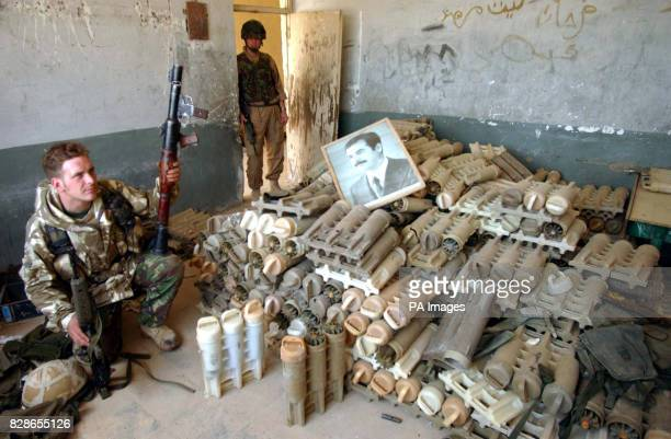 Az Zubaya Iraq near Basra at the school where an arms cache was found Soldiers from the light infantry and 2nd Royal Tank Regiment battle group...
