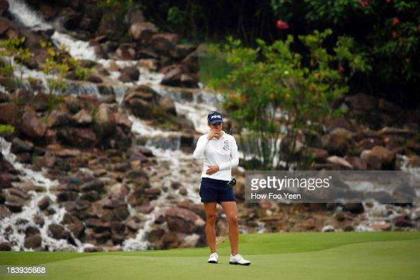 Azahara Munoz in action during day one of the Sime Darby LPGA Malaysia at Kuala Lumpur Golf Country Club on October 10 2013 in Kuala Lumpur Malaysia