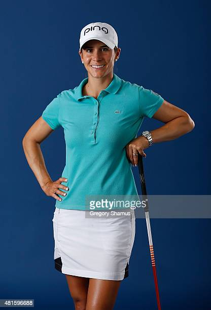 Azahara Munoz of Spain poses for a portrait prior to the Meijer LPGA Classic presented by Kraft at Blythefield Country Club on July 22 2015 in Grand...