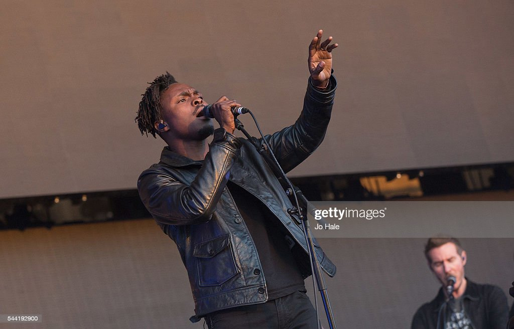 Azakel and Robert Del Naja performs on stage with Massive Attack as part of the Barclaycard Presents British Summer Time Hyde Park: Day 1 at Hyde Park on July 1, 2016 in London, England.