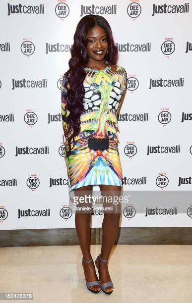 Azealia Banks attends the new Just Cavalli boutique opening party as part of Milan Womenswear Fashion Week on September 21 2012 in Milan Italy
