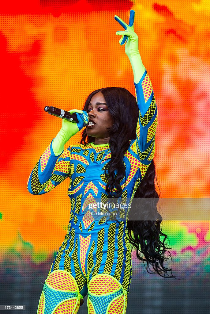 Azealia Banks performs at Day 3 of the T in the Park festival at Balado on July 14, 2013 in Kinross, Scotland.