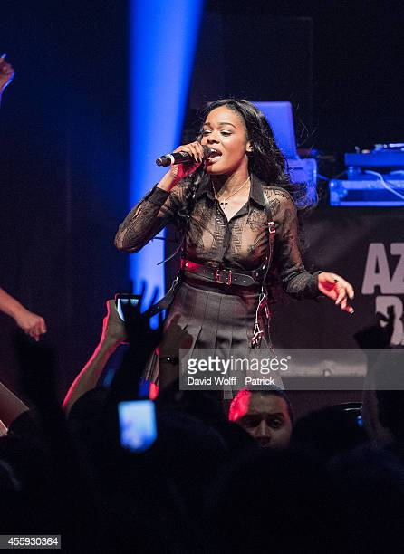 Azealia Banks performs at Le Bataclan on September 22 2014 in Paris France