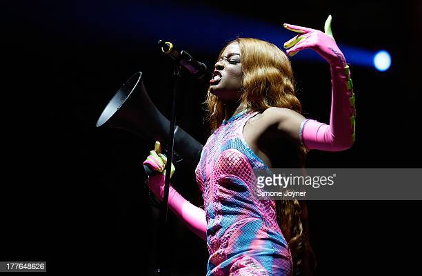 Azealia Banks performs live on the NME/Radio 1 stage during day three of Reading Festival at Richfield Avenue on August 25 2013 in Reading England