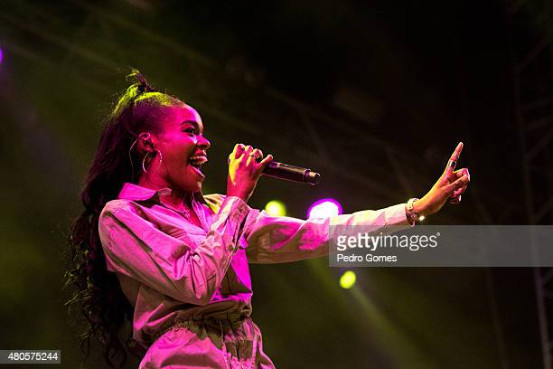 Azealia Banks performs on Day 3 of the NOS Alive Festival on July 11 2015 in Lisbon Portugal