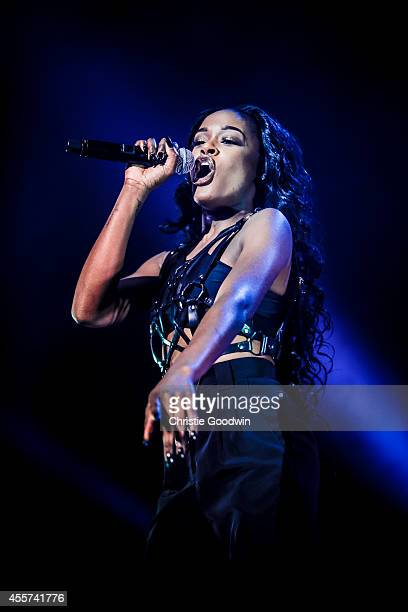 Azealia Banks performs on stage at Brixton Academy on September 19 2014 in London United Kingdom