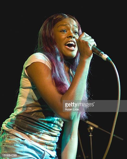 Azealia Banks performs on stage at Hoxton Bar on November 6 2011 in London United Kingdom