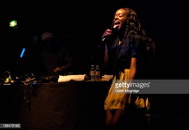 Azealia Banks performs on stage at KOKO on December 10 2011 in London United Kingdom