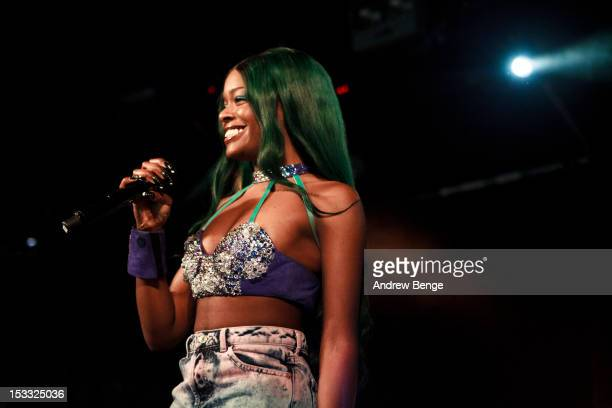 Azealia Banks performs on stage at Leeds University on October 3 2012 in Leeds United Kingdom