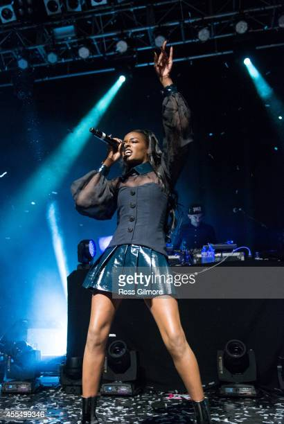 Azealia Banks performs on stage at O2 ABC on September 15 2014 in Glasgow United Kingdom