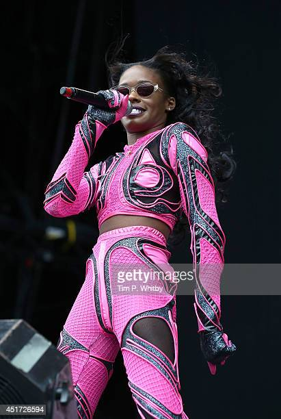 Azealia Banks performs on stage at Wireless Festival at Finsbury Park on July 5 2014 in London United Kingdom