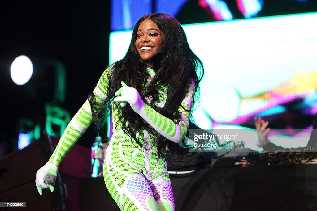 Azealia Banks performs on stage on day 1 of Lovebox Festival 2013 at Victoria Park on July 19, 2013 in London, England.