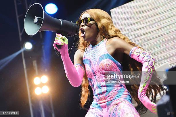 Azealia Banks performs on stage on Day 3 of Reading Festival 2013 at Richfield Avenue on August 25 2013 in Reading England