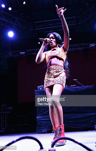 Azealia Banks performs onstage at the Firefly Music Festival at The Woodlands of Dover International Speedway on June 22 2013 in Dover Delaware