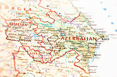 Azerbaijan and Armenia Map