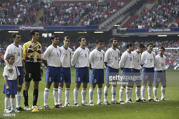 Azerbaijan team group taken before the European Championships 2004 Qualifying Group 9 match between Wales and Azerbaijan held on March 29 2003 at the...