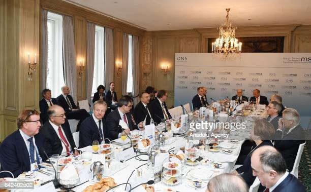 Azerbaijani President Ilham Aliyev attends a roundtable meeting on On the Road to Price Stability The return of OPEC and the Geopolitics of Oil'...