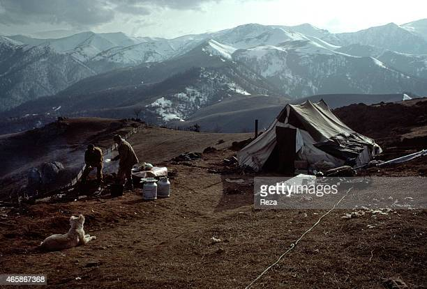 Azerbaijani soldiers arrive at a makeshift military base in March 1992 in the mountains of Karabakh Azerbaijan In early 1988 the Government of...