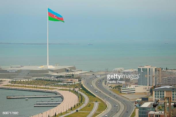 Azerbaijanian national flag Flag with area 2450 sq meters is the biggest in the world