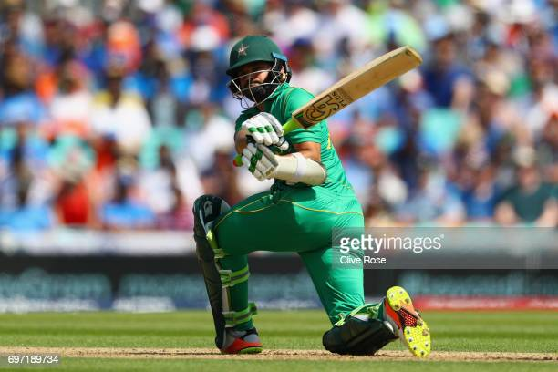 Azhar Ali of Pakistan in action during the ICC Champions trophy cricket match between India and Pakistan at The Oval in London on June 18 2017