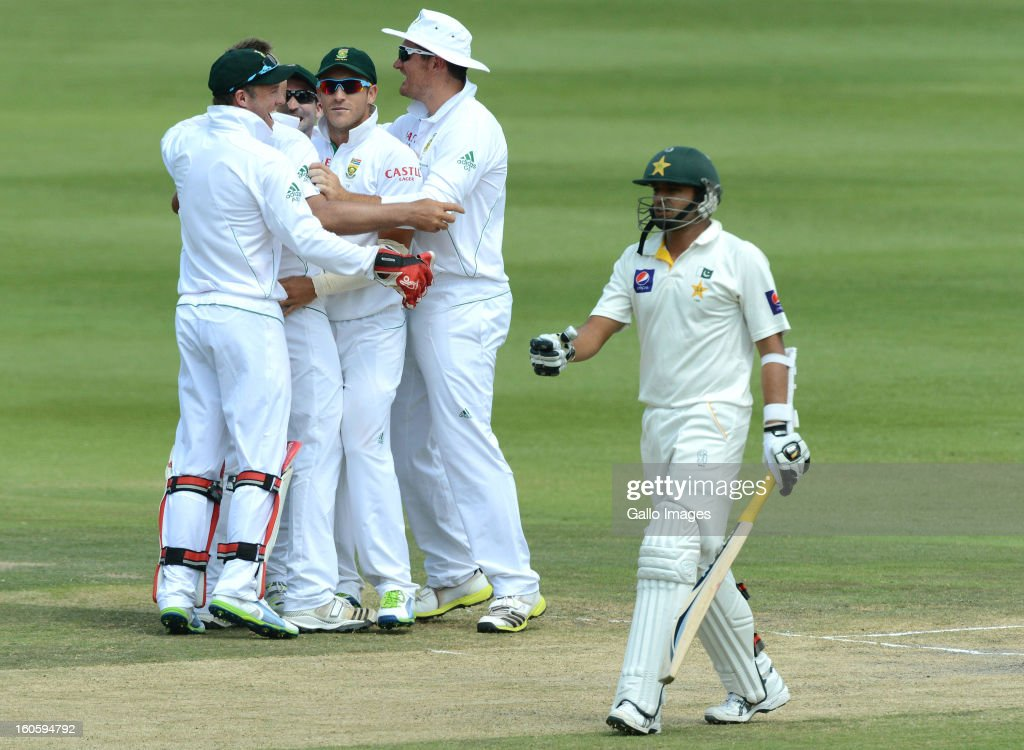 Azhar Ali of Pakistan walks off for 18 runs during day 3 of the 1st Test match between South Africa and Pakistan at Bidvest Wanderers Stadium on February 03, 2013 in Johannesburg, South Africa.