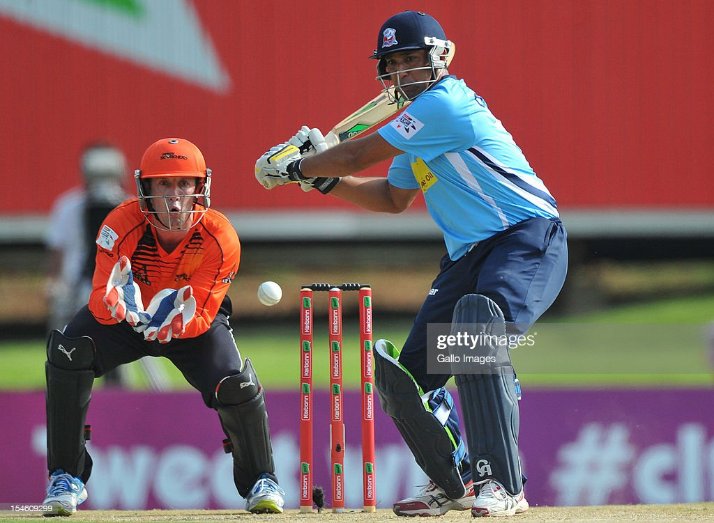 <a gi-track='captionPersonalityLinkClicked' href=/galleries/search?phrase=Azhar+Mahmood&family=editorial&specificpeople=227377 ng-click='$event.stopPropagation()'>Azhar Mahmood</a> of Aces in action during the Karbonn Smart CLT20 match between Auckland Aces and Perth Scorchers at SuperSport Park on October 23, 2012 in Pretoria, South Africa.
